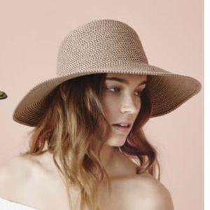 New Eric Javits Hamptons Straw Floppy Sun Hat
